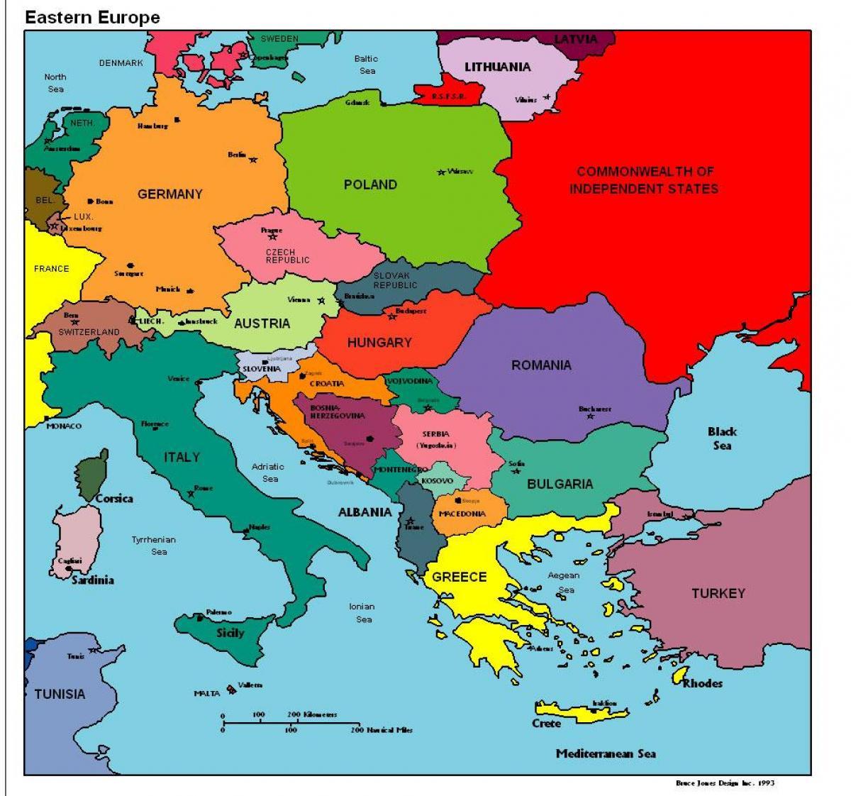 Albanien Kort Europa Kort Over Europa Som Viser Albanien Det